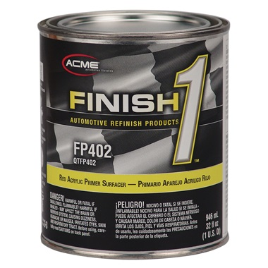 Acme® Finish 1™ Red Acrylic Lacquer Primer Surfacer - Qt