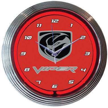 Dodge Viper Neon Wall Clock