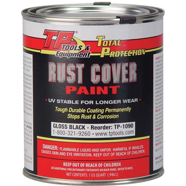 TP Tools® RUST COVER PAINT - Gloss Black, Qt
