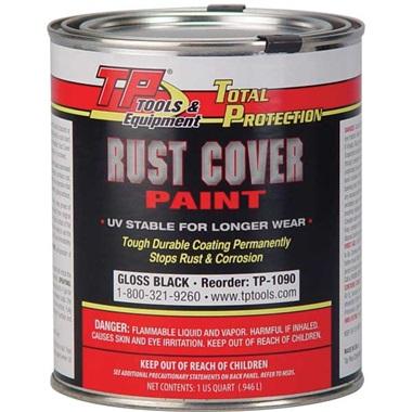 TP Tools® RUST COVER PAINT - Gloss Black, Qt