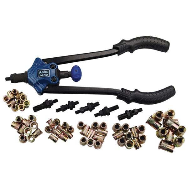 Astro Pneumatic® 67-Pc XL SAE & Metric Hand Rivet Nut/Thread Set Kit