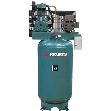 FS-Curtis 5HP, 2-Cyl, 2-Stage 80-Gal H.D. Air Compressor