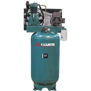 FS-Curtis 5HP, 2-Cyl, 2-Stage 80-Gal H.D. Air Compressor