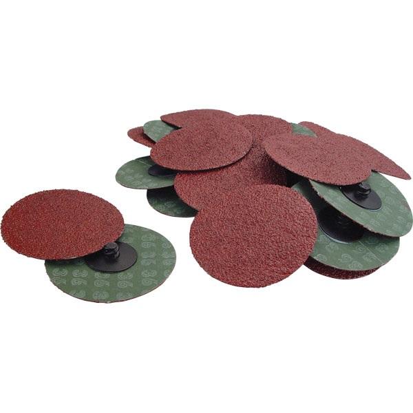 "3"" Quick-Change Sanding Discs - 36 Grit, 25 Pk"