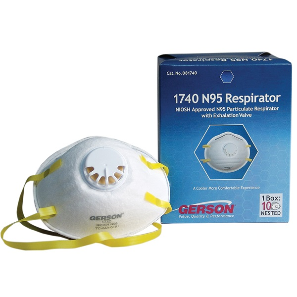 Gerson® N95 Respirator/Mask with Check Valve