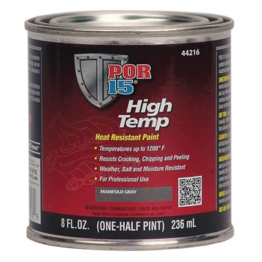 POR-15® High Temp Paint - Manifold Gray, Half Pint
