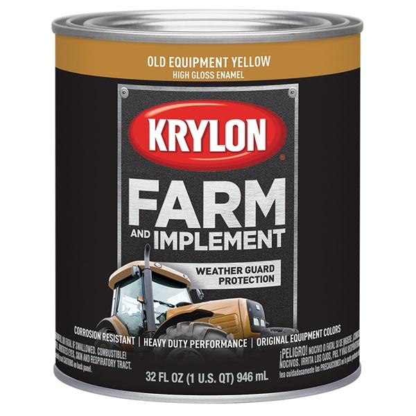 Krylon® Farm & Implement Paint - Old Equipment Cat Yellow, Qt