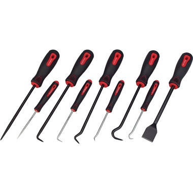 9-Pc Scraper Hook & Pick Set