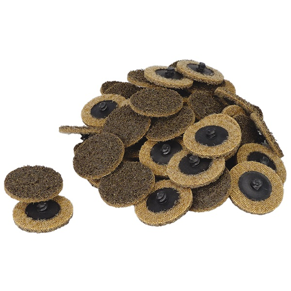 """2"""" Quick-Change Surface Conditioning Discs - Coarse, Gold - 50 Pk"""