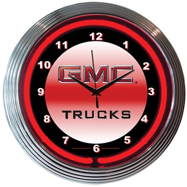 GMC Trucks Neon Wall Clock