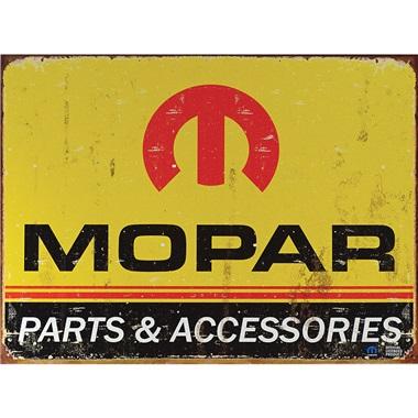 """Mopar Logo Tin Sign - 16""""W x 12-1/2""""H"""