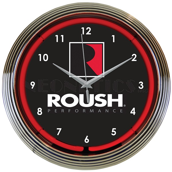 Roush Performance Neon Wall Clock