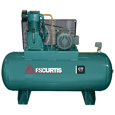 FS-Curtis 10HP, 2-Cyl, 2-Stage 120-Gal H.D. Air Compressor
