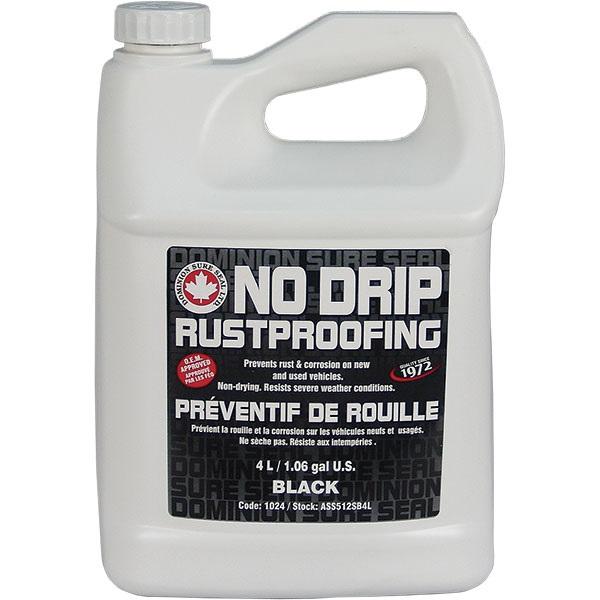Dominion Sure Seal Spray-On NO DRIP Rustproofing - Black, 1.06 Gal