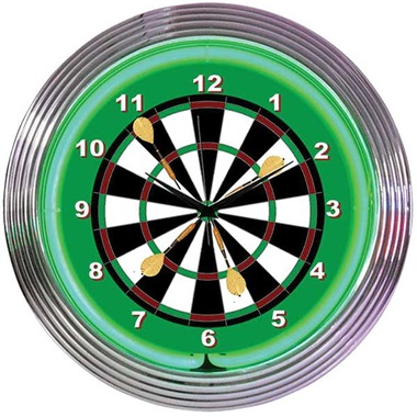 Darts Neon Wall Clock