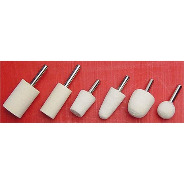 6-Pc Felt Buff Bob Kit
