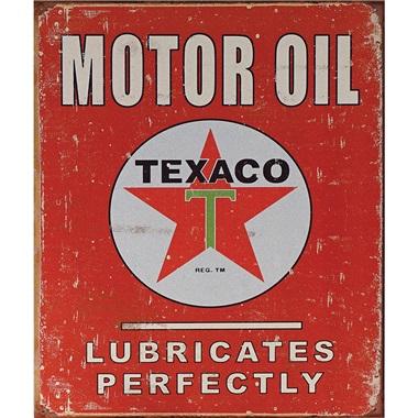 """Texaco Tin Sign - 12-1/2""""W x 16""""H"""