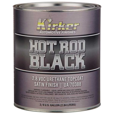 Kirker Hot Rod Black - Urethane Topcoat, Satin Finish