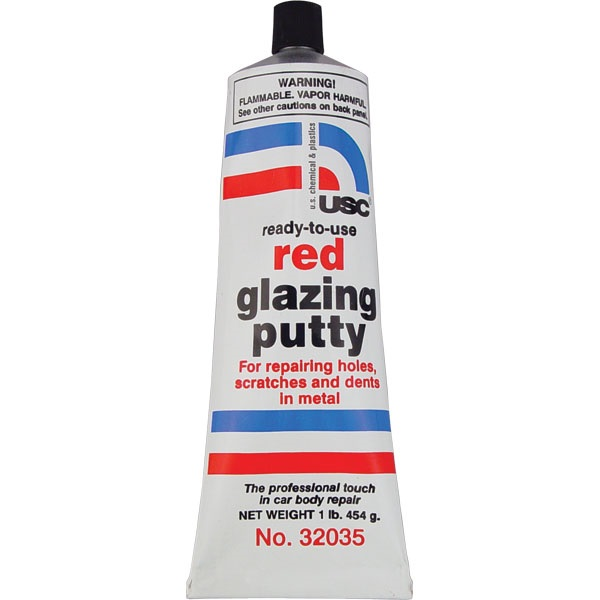 Chucks Auto Body >> USC® Red Glazing Putty - TP Tools & Equipment