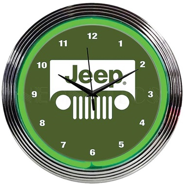 Jeep Neon Wall Clock