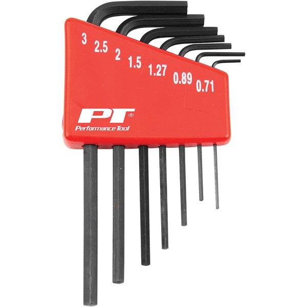 Performance Tool® 7-Pc SAE Micro Hex Key Set