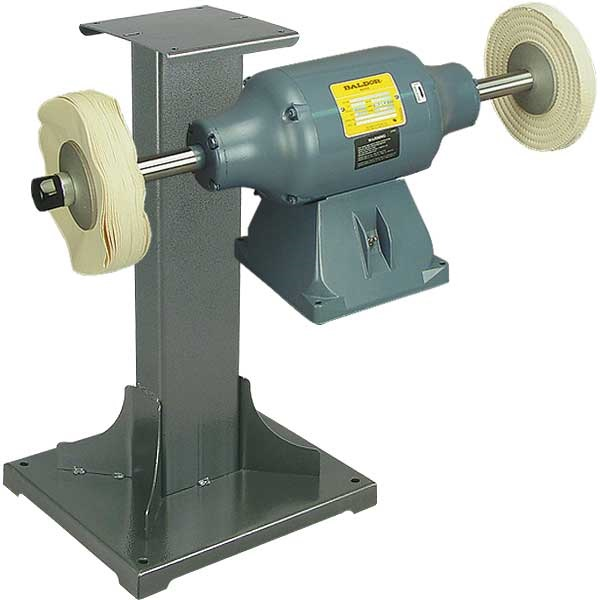 BALDOR® 1-1/2HP Buffer and 11 Gauge Steel Stand