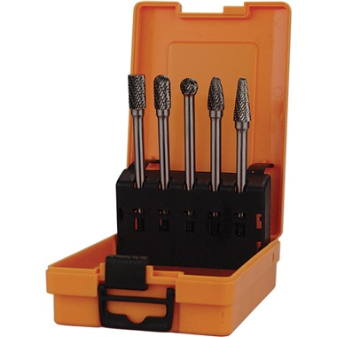 5-Pc Extended-Length Carbide Burr Set