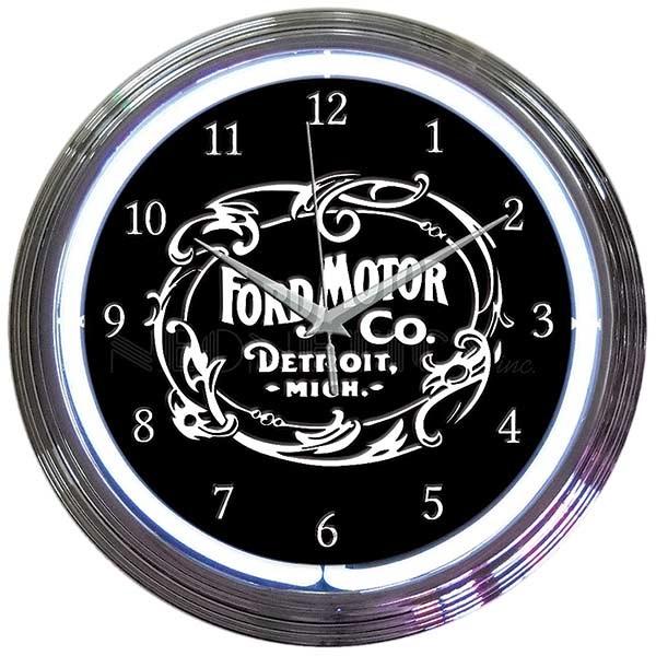 Ford Motor Company Neon Wall Clock