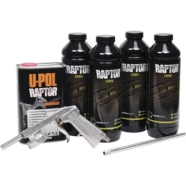 U-Pol® Raptor Spray-On Truck Bed Liner Kit - Black