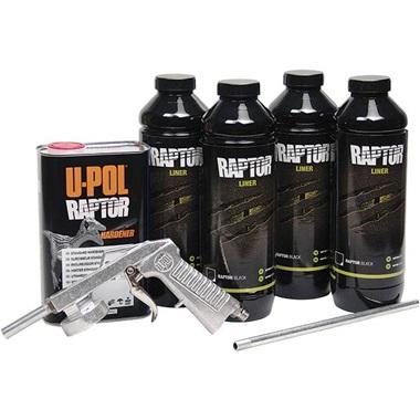 Bed Liner Spray >> U Pol Raptor Spray On Truck Bed Liner Kit Black