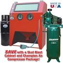 960-SE Abrasive Blast Cabinet & Champion® Compressor Package Special