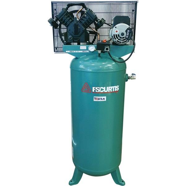 FS-Curtis 5HP, 4-Cyl, 1-Stage 60-Gal Air Compressor