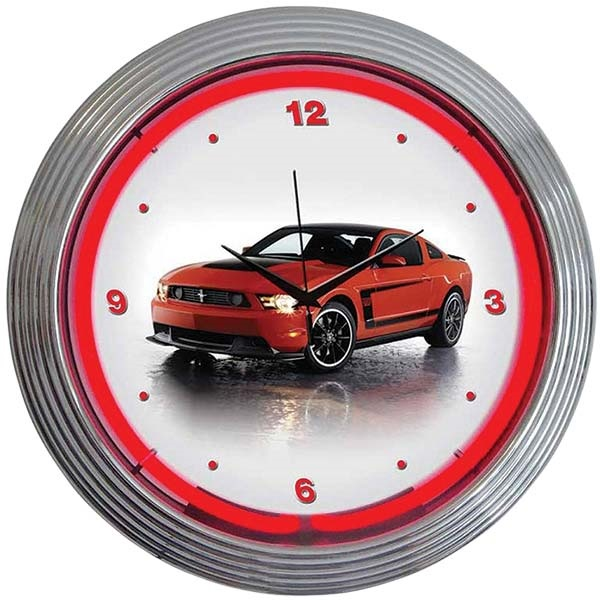 Ford Mustang Boss 302 Neon Wall Clock