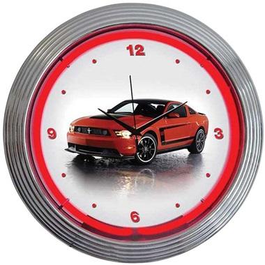 Ford Mustang Boss 302 Neon Wall Clock