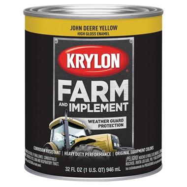 Krylon® Farm & Implement Paint - John Deere Yellow, Qt