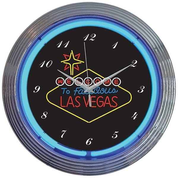 Las Vegas Sign Neon Wall Clock