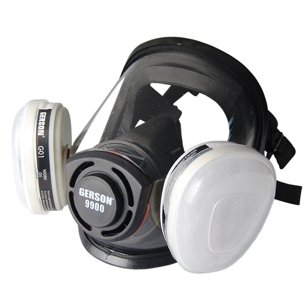 """Gerson® Full-Face """"One Size Fits All"""" Respirator"""