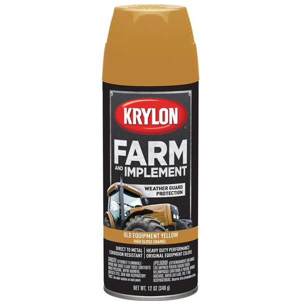 Krylon® Farm & Implement Paint - Old Equipment Cat Yellow, 12 oz