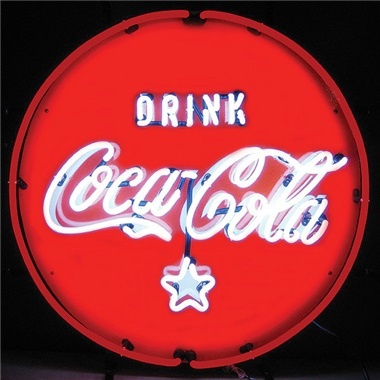 Coca Cola Red, White & Coke Neon Sign