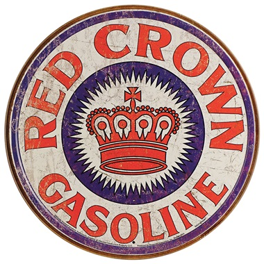 "Red Crown Tin Sign - 11-3/4"" Dia"