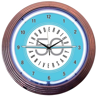 Ford Thunderbird Neon Wall Clock