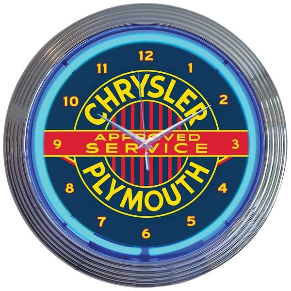 Chrysler Plymouth Neon Wall Clock