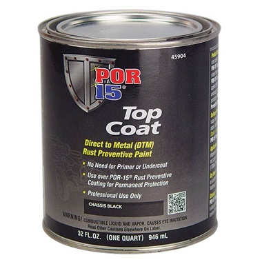POR-15® Chassis Black Topcoat, Quart