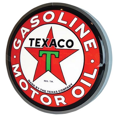 "Texaco Motor Oil 15"" Dia Backlit LED Sign"