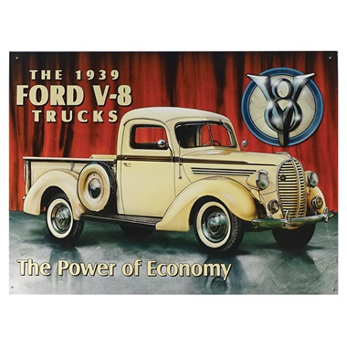 "1939 Ford Pickup Tin Sign - 16""W x 12-1/2""H"