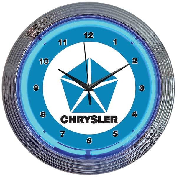 Chrysler Pentastar Neon Wall Clock