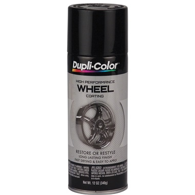 Dupli-Color® Wheel Paint - Gloss Black, 12 oz