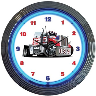 Big Rig Neon Wall Clock