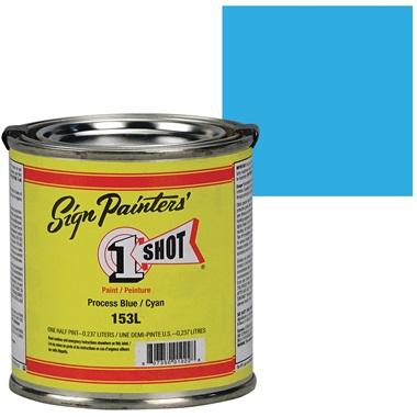 1 Shot® Lettering & Pinstripe Enamel Paint - Process Blue