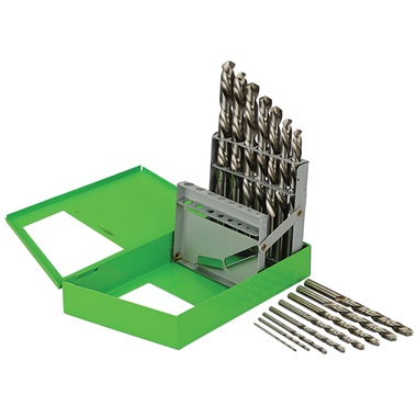 15 Pc Left-Hand Drill Bit Set